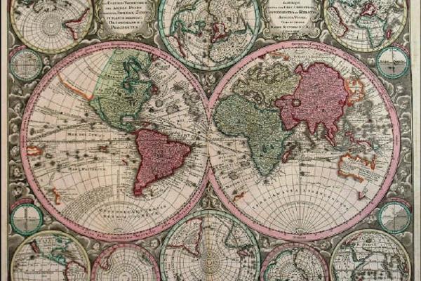 18th Century World Map by Georg Matthaus Seutter