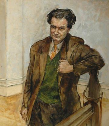 Portrait of Christopher Hill for Balliol College by Derek Hill