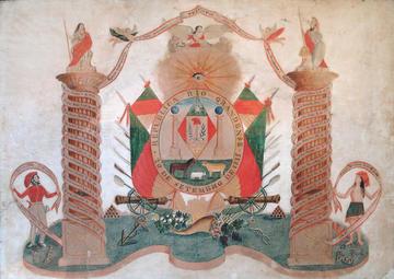 Contemporary Rendition of the Revolutionary Flag of Rio Grande do Sul