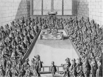 Engraving of Parliament during the Commonwealth 1650