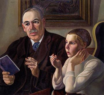 john maynard keynes baron keynes lydia lopokova william patrick roberts 1895 1980 national portrait gallery london