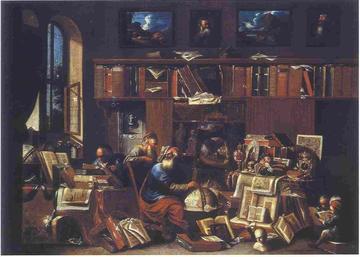 Philosophers in Study (1700) by Johann Michael Bretschneider