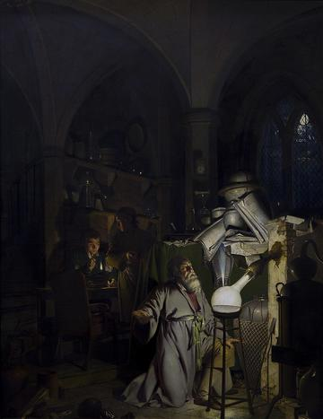 The Alchemist Discovering Phosporus 1771 by Joseph Wright