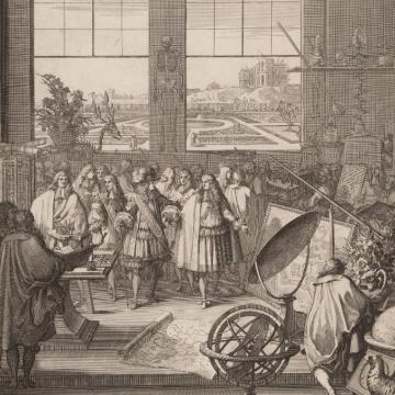 louis xiv visiting the royal academy of sciences